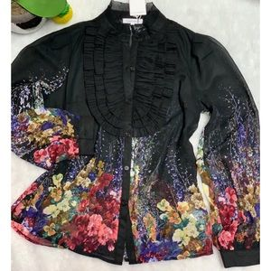 LULUMARY flowers stamp Top size S